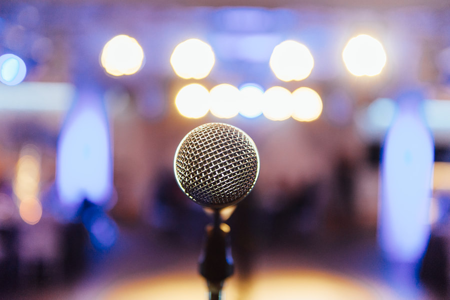 Microphone at wedding